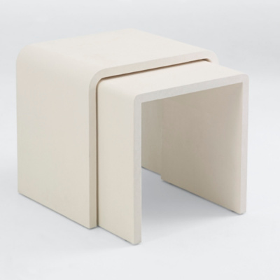 One Fifth Waterfall End Table, Cream