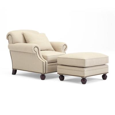Edwardian Club Chair & Ottoman
