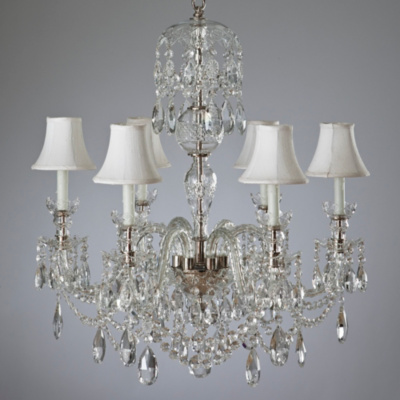 Duchess Small Chandelier with Cut Arms