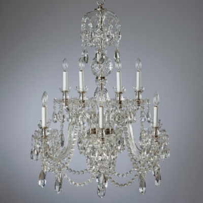 Duke Medium Chandelier with Fluted Arms