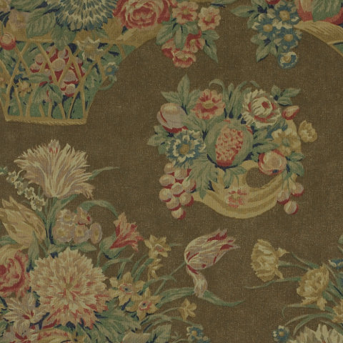 Harlington Floral Brown Florals Fabric Products