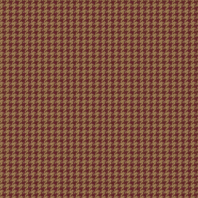 Chesterfield Houndstooth  - Cranberry