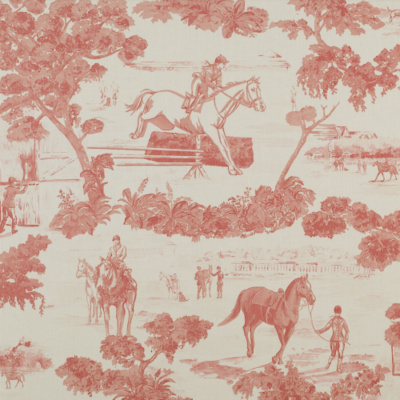 And They're Off! Toile  - Pink