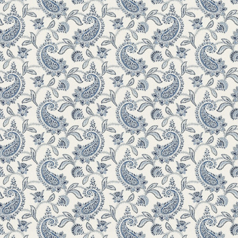 Proust Paisley Blue White Paisley Fabric Products Ralph Lauren Home Ralphlaurenhome Com