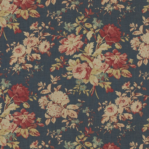 Newbury Floral Blue Fabric Products Products