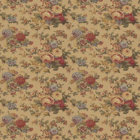 Brash Hollow Floral Camel Harvest Fabric Products