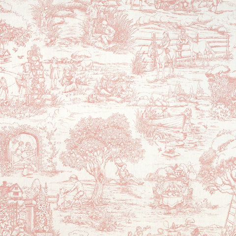 Child S Garden Toile Pink Toiles Fabric Products