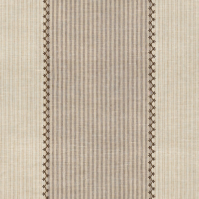 Carleigh Embroidered Ticking - Tumbleweed