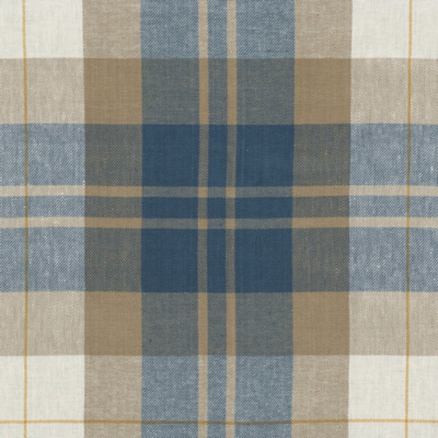 Summer Cottage Plaid - Vintage Blue