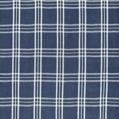 Cross Wind Plaid - Denim/Cream