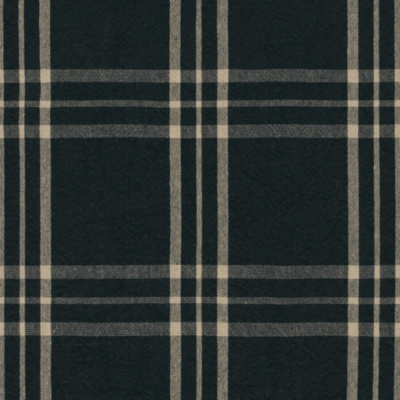 Cross Wind Plaid - Black/Linen