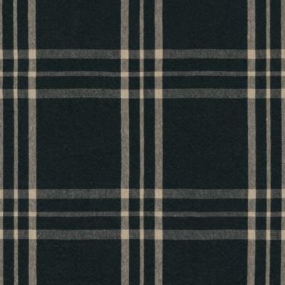 Cross Wind Plaid - Black/Linen