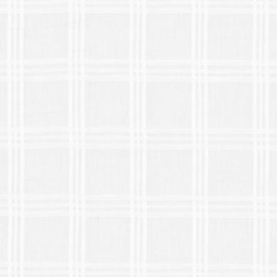 Carter Sheer Plaid - Handkerchief White