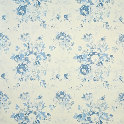 Brianna Floral Twill - Stoneware Blue