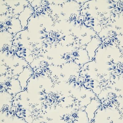 Ashfield Twill Floral - Delft Blue