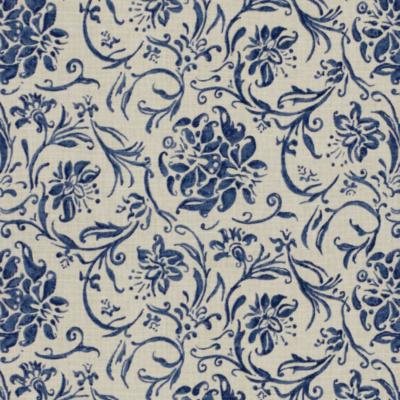 Orleon Floral - Cobalt