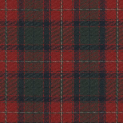 Burrough Court Tartan - Red