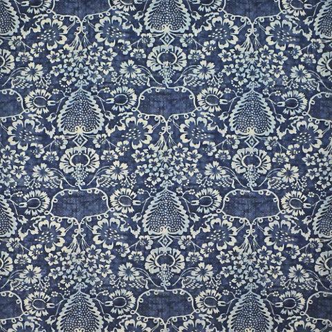la garoupe indigo florals fabric products ralph lauren home ralphlaurenhomecom - Ralph Lauren Indigo