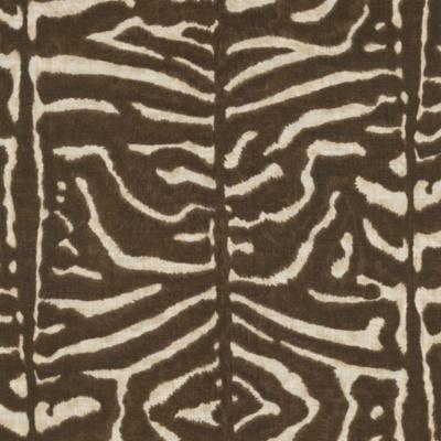 Serengeti Linen Zebra – Mahogany
