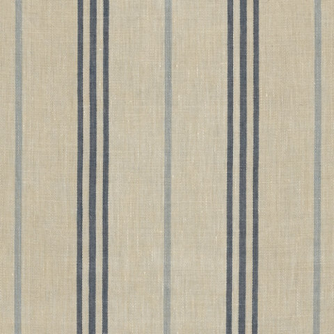 Maritime Linen Ticking Blue Fabric Products