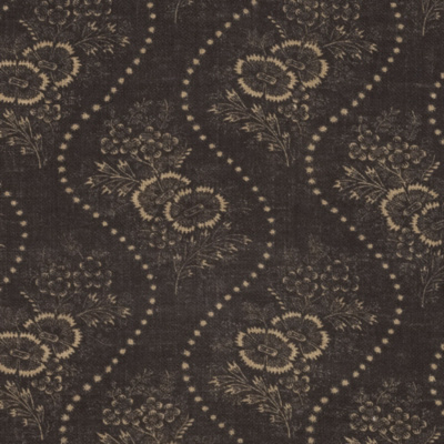 Etienne Floral Stripe - Vintage Black