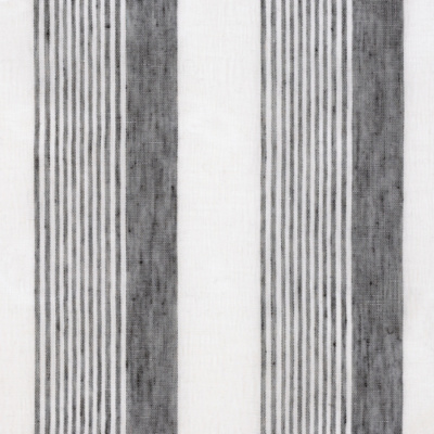 Breton Sheer Stripe - Black/Gossamer