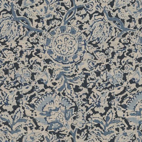 arjuna floral indigo left bank fabric products ralph lauren home ralphlaurenhomecom - Ralph Lauren Indigo