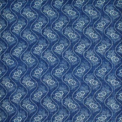 Etienne Floral Stripe - Brilliant Blue