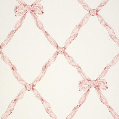 Matilda Ribbon Trellis Blush Wallcovering Products