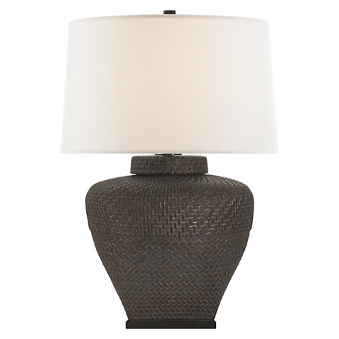 isla small table lamp in crystal bronze with linen shade table lamps lighting products ralph lauren home