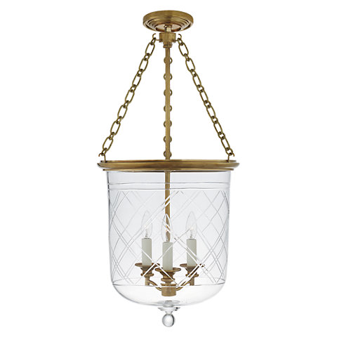 Cambridge Medium Smoke Bell Pendant in Natural Brass with Clear Glass - Ceiling Fixtures - Lighting - Products - Ralph Lauren Home - RalphLaurenHome.com  sc 1 st  Ralph Lauren Home & Cambridge Medium Smoke Bell Pendant in Natural Brass with Clear ... azcodes.com