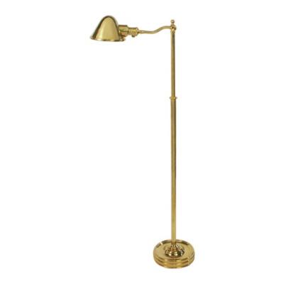Hayward Floor Lamp in Natural Brass