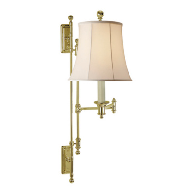 Kerry Swing Arm Wall Lamp in Natural Brass