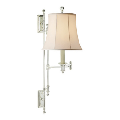 Kerry Swing Arm Wall Lamp in Polished Silver
