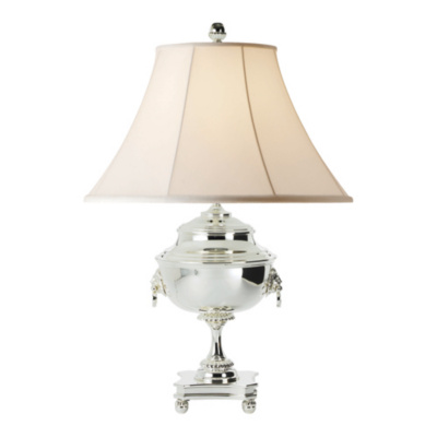 Samovar Table Lamp in Polished Silver