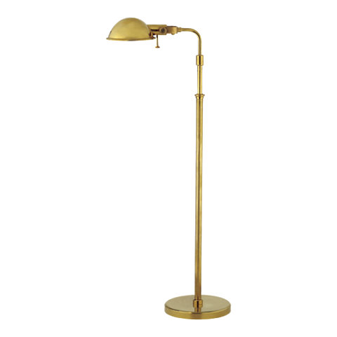 fairfield pharmacy floor lamp in natural brass lighting With fairfield pharmacy floor lamp in natural brass