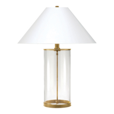 Modern Table Lamp in Natural Brass