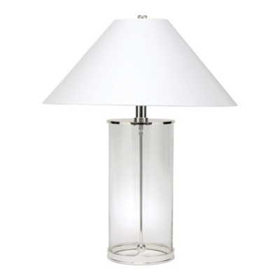 Modern Table Lamp in Polished Silver