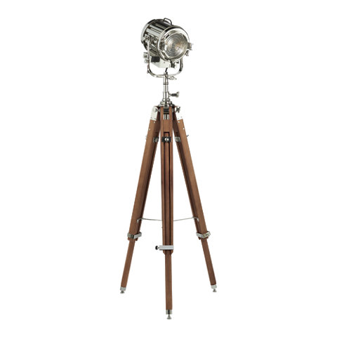 Montauk Search Light Floor Lamp In Polished Nickel Floor Lamps Lighting