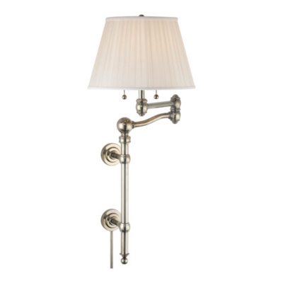 Sargent Swing Arm Wall Lamp in Butler's Silver