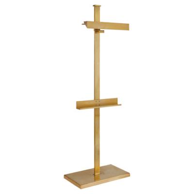 Langham Display Floor Lamp in Natural Brass