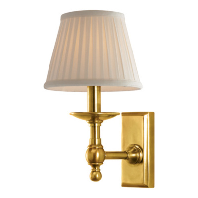 Payson Sconce in Natural Brass