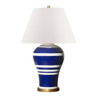 Delphine Table Lamp in Blue and White