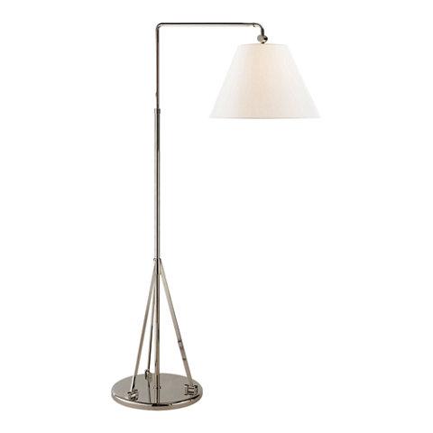 Brompton Swing Arm Floor Lamp in Polished Nickel - Floor Lamps ...
