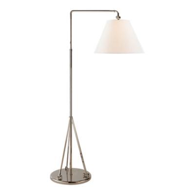 Brompton Swing Arm Floor Lamp in Polished Nickel