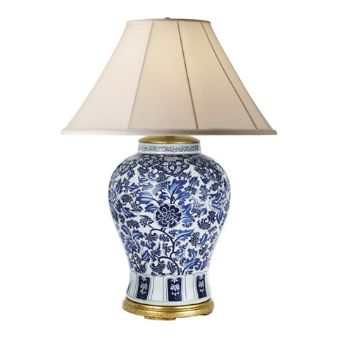 Marlena Large Table Lamp In Blue And White   Table Lamps   Lighting    Products   Ralph Lauren Home   RalphLaurenHome.com