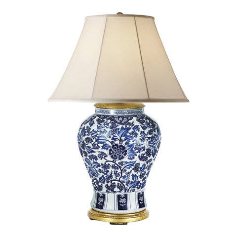 Marlena Small Lamp In Blue And White Table Lamps Lighting Products Ra