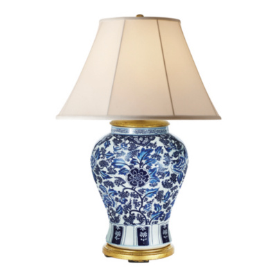 Marlena Small Lamp in Blue and White