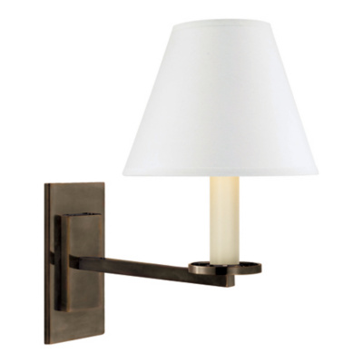 Railroad Sconce Wall Lamp in Bronze
