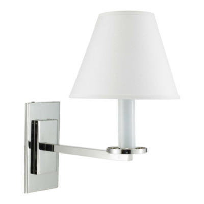 Railroad Sconce Wall Lamp in Polished Nickel